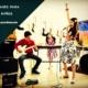 Niños tocando instrumentos musicales en una Escuela de musica en Puebla